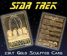 Star Trek 4 Captains 30 Year Anniv. 23K Gold Card (Kirk/Picard/Sisko/Janewa y)