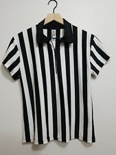 In Your Face Athletic Apparel Referee Shirt Short Sleeve Jersey Zip Large Ladies