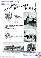 Hotel Excelsior Lido Venedig XL Reklame von 1929 Rom Colombia Genua Cabaret ad +