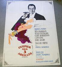Affiche de cinéma : GUEPIER POUR TROIS ABEILLES de Joseph L. MANKIEWICZ