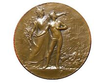 Art Nouveau Military Preparation Bronze Medal by Lucien COUDRAY / M35