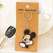 Silicone Key Cover Chain Ring Cap Head Cap Phone Strap Minion animals Key Set
