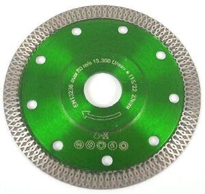 Diamanttrennscheibe Fliese Turbo-Profi Ø 115 & 125 mm Feinsteinzeug EXTRA DÜNN