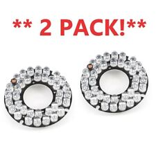 2PCS Camera 60 Degree Bulb Red 36 LEDs Board for 6mm Lens - NEW - FAST!
