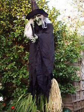 New Halloween Talking Witch hanging Figure Sound lights Prop decoration REDUCED