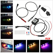 RGB Demon Eye LED + Wireless App Control For Car Headlights Projector Retrofit