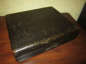 A Victorian leather covered writing box with Bramah lock