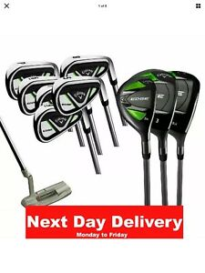 Callaway Edge Steel & graphite 10 Piece Golf Set Right hand... 24hr Courier 1