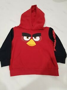 Angry Birds Kids sizes 4 Red Hoodie (S1B2I1)