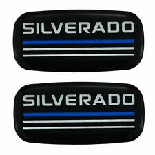 Custom Epoxy Resin Silverado Emblems Pillar Cab Badges Logo For Blue 2pcs