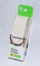 "Gaiam Yoga Strap 6' x 1.5"" Cotton, Natural, Deepen Stretches"