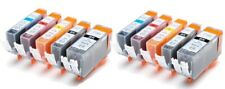 10 x Compatible Ink Cartridges for use with Canon PGI-520 - CLI-521 Non OEM
