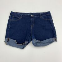 Apt 9 Jean Shorts Womens Size 16 Blue Cuffed Short Casual