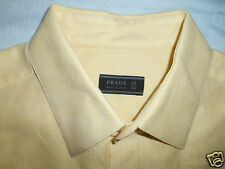PRADA YELLOW DRESS SHIRT SIZE 16 35  EXCELLENT CONDITION.!  From Italy..!
