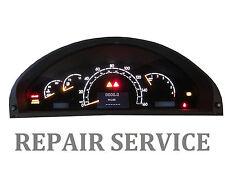 Mercedes W220 W215 1999-2006 S430 S500 CL Instrument Cluster REPAIR SERVICE