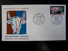 SENEGAL AERIEN 312   PREMIER JOUR FDC      PESTE BOVINE      30F   1968