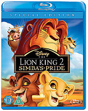 THE LION KING 2 SIMBA'S PRIDE DISNEY BLU RAY - NEW AND SEALED - UK