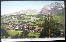 Switzerland~Schweiz~1900's Adelboden ~ from Schermtanne