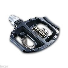 PAIR of BLACK Shimano PD A530 SPD Clipless Road Touring BIKE Pedals c/w Cleats.