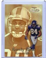 """1999 TOPPS GOLD LABEL #R15 RANDY MOSS """"RACE TO RICE"""" GOLD INSERT - VIKINGS 49ERS"""