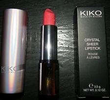 Kiko Make-up Milano Crystal sheer lipstick 410 PINK FLAMINGO. BNIB Discontinued