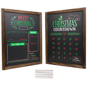 "Wooden Chalkboard Frame Photo Prop 13""x17"" Set of 2 Boards (Version 2)"