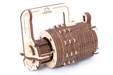UGEARS Combination Lock 3D Puzzle Wooden Brain Teaser Building Kit Office Decor