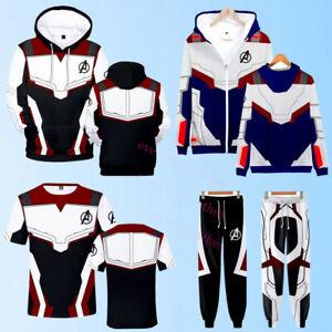 Avengers Endgame Cosplay Pullover / Zip Hoodie Jacket Sweatshirt /Pants /T-Shirt