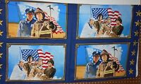 "1  Windham ""American Heroes"" Fabric Panel 23"" x 44"""