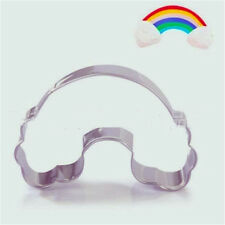 Stainless Steel Cookie Cutter Cute Rainbow Cake Biscuts Cutter Fondant DIY Mold♫