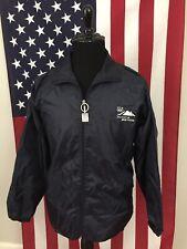 Vancouver 2010 Winter Olympics team usa Windbreaker Jacket mens LARGE blue 1a137