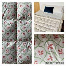 More details for vintage 'eiderdown studio' blanket. bespoke. feather comforter. small single.