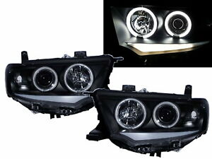 Pajero Sport/Dakar PB/PC 09-15 5D 3D DRL CCFL  Headlight BK for Mitsubishi LHD