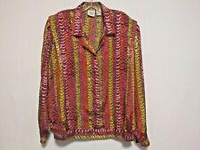 Allison Daley Top Shirt Blouse Shimmering Polyester Geometric Women's Plus sz 3X