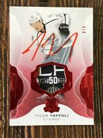 2016-17 16/17 The Cup Tyler Toffoli /4 Red 50th Annivers Tag Patch Auto Kings