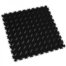 Kunststoff PVC Fliesen Garagenboden Gewerbeboden Industrieboden schwarz 7mm