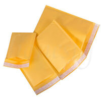 5~100pcs Kraft Bubble Envelopes Padded Mailers Shipping Self-Seal Bags 4 Size