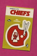 1983 KANSAS CITY CHIEFS  NFL FOOTBALL STICKERS SHEDULE  NRMT-MT CARD