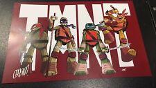 TMNT PRINT HAND SIGNED by Chad Thomas Teenage Mutant Ninja Turtles Original Art