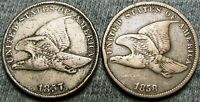 1857 +1858 Flying Eagle Cents ---- NICE LOT ---- #C940