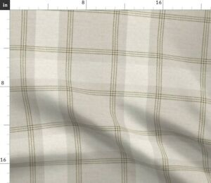 Victorian Tan Heritage Vintage Rustic Plaid Spoonflower Fabric by the Yard