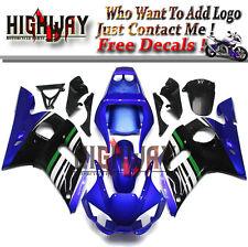 Body Full Blue Black ABS Fairings For Yamaha YZF R6 1998-2002 Bodywork Kit Hot f