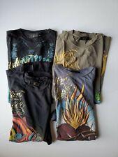 Lot of 4 Christian Audigier T-Shirt Size Medium Ed Hardy
