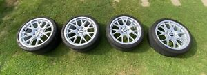 """BBS Ch-r 19"""" 5x120 Brilliant Silver Staggered Bmw Alloy Wheels Michelin PS4S"""