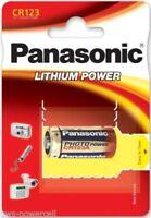 Pilas Panasonic CR123 / CR2 LITIO CAMARA 3V BATTERY CAMARA FOTO 123A DL 123A