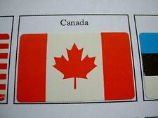 50 Drapeaux adhésifs CANADA FLAG QUEBEC 37 x 22 mm, lot mini flags auto-collants