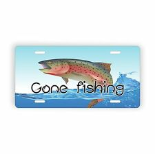 """Gone Fishing Novelty License Plate 6"""" x 12"""" for Car Tuck Auto"""