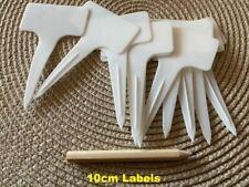 More details for plastic plant labels garden marker t shape tag 10cm white 1-1000 labels & pencil