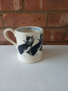 Emma Bridgewater Cats Black & White - 1/2 Pint Mug - New