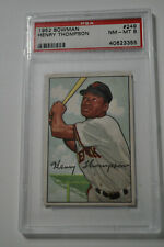 1952 Bowman - Henry Thompson - #249 - PSA 8 - NM-MT
